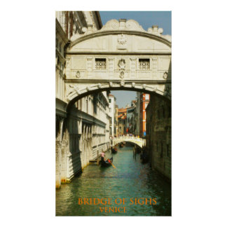 bridge of sighs venice italy poster