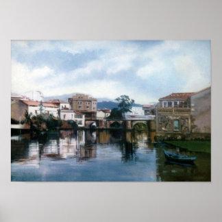 Bridge of the Port (Camariñas. To Corunna) Poster