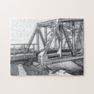 Bridge old jigsaw puzzle