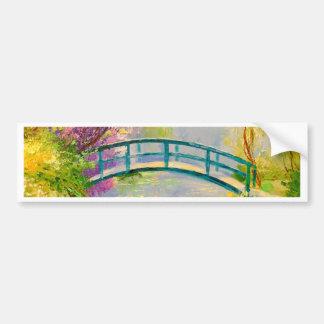 Bridge on the pond bumper sticker