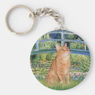 Bridge - Orange Tabby SH cat 46 Key Ring