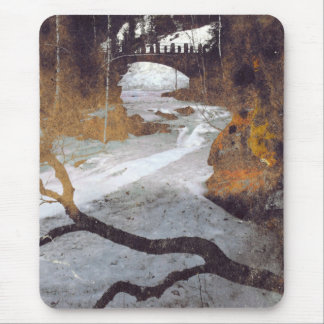 Bridge Over a Frozen Stream by Alexandra Cook Mouse Pad