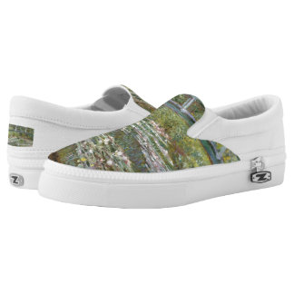 Bridge over a Pond of Water Lilies by Claude Monet Slip On Shoes