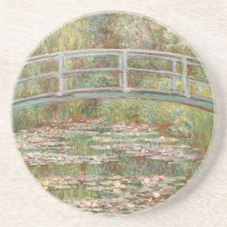 Bridge Over a Pond of Water Lilies by Monet Beverage Coaster