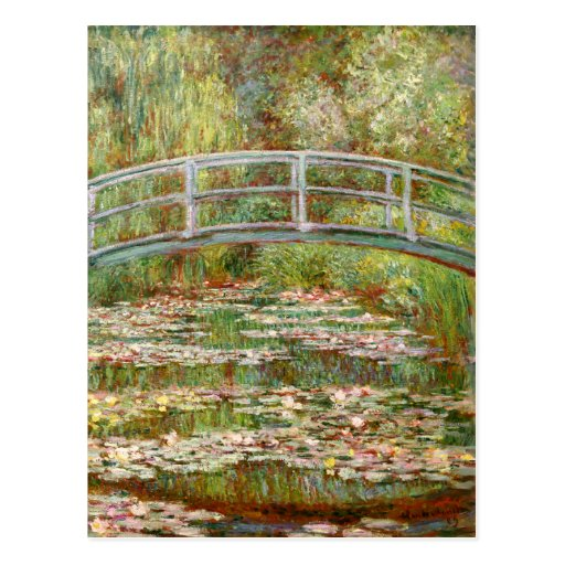Bridge over a Pond of Water Lilies, Claude Monet Postcard