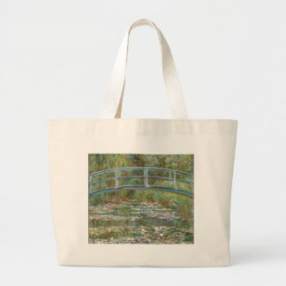 Bridge over a Pond of Water Lilies Large Tote Bag