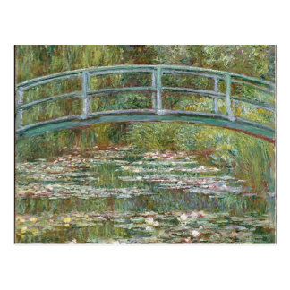 Bridge over a Pond of Water Lilies Postcard