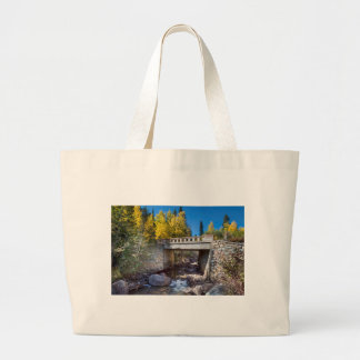 Bridge Over Autumn Waters Large Tote Bag