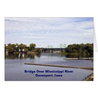 Bridge Over Mississippi River Davenport, Iowa Greeting Card