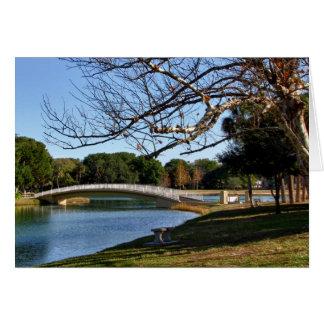 Bridge over Pond Greeting Cards