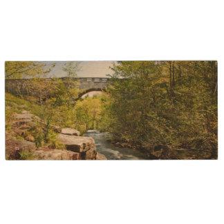 Bridge Over River Wood USB 2.0 Flash Drive