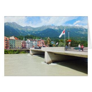 Bridge over the River Inn Greeting Card