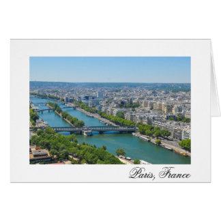 Bridge over the river Seine in Paris, France Card
