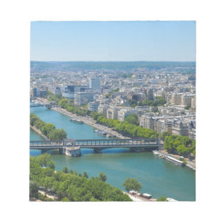 Bridge over the river Seine in Paris, France Notepads