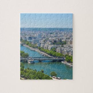 Bridge over the river Seine in Paris, France Puzzle