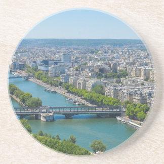 Bridge over the river Seine in Paris, France Sandstone Coaster
