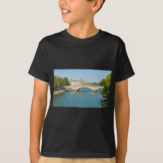 Bridge over the river Seine in Paris, France T-Shirt