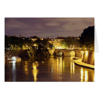 Bridge Over The Tiber River Greeting Cards