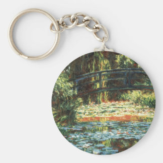 Bridge Over the Waterlily Pond by Claude Monet Key Ring