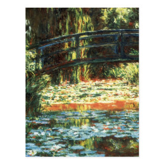 Bridge Over the Waterlily Pond by Claude Monet Postcard
