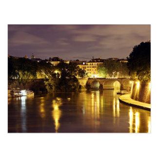 Bridge Over Tiber River Postcard