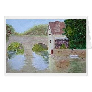 Bridge over water card