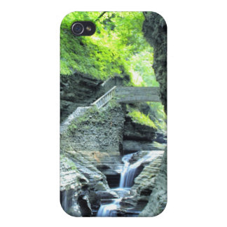 bridge over waterfall iphone case iPhone 4 covers