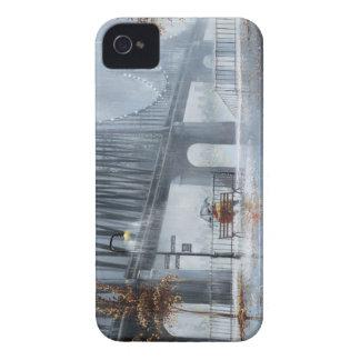 Bridge painting,Raining on the bridge iPhone 4 Case-Mate Case