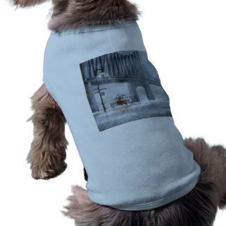 Bridge painting,Raining on the bridge Sleeveless Dog Shirt
