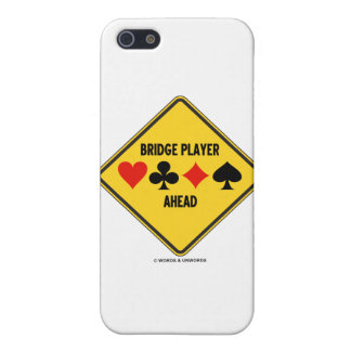 Bridge Player Ahead (Diamond Warning Sign) iPhone 5 Cover