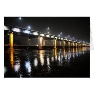 Bridge, Rain, Seoul Card