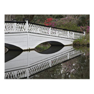 Bridge reflecting on pond, Magnolia Postcard