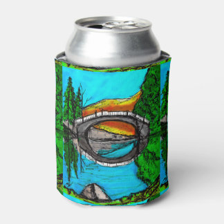 Bridge Reflection Marker #2 Colored Can Cooler