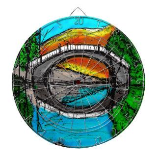 Bridge Reflection Marker #2 Colored Dartboard