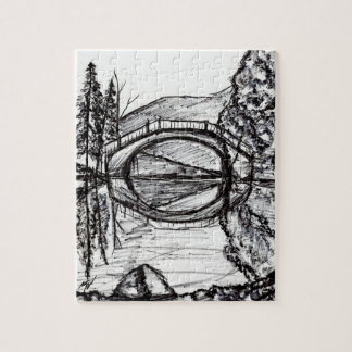Bridge Reflection Marker Drawing Puzzle