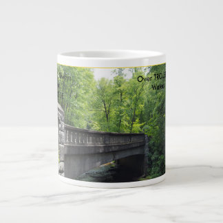 BRIDGE SCENERY WITH TEXT LARGE COFFEE MUG