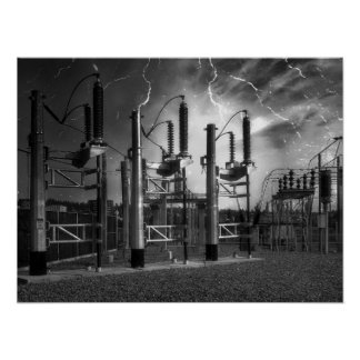 Bridge St Power Substation 2 - Spokane Washington Poster