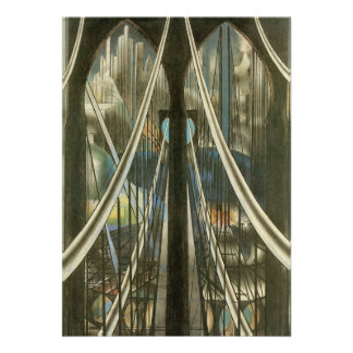 Bridge Stella Vintage New York City Architecture Personalized Invite