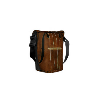 Bridge Strings Sound Holes Custom Name Courier Bags