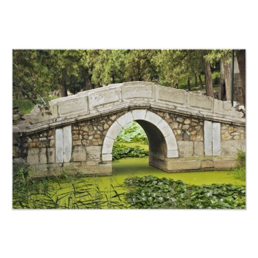 Bridge, Summer Palace, Beijing, China Photo Art