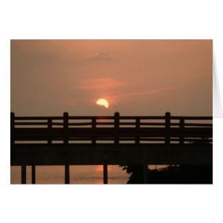 """bridge sunset"" by Larry Coressel Card"