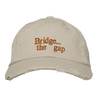 Bridge the gap embroidered hat
