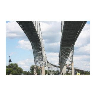 Bridge to Canada Canvas Print