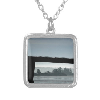 Bridge to St Joseph Island Silver Plated Necklace