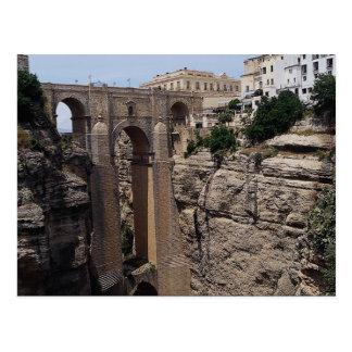 Bridge to the Old Quarter, Ronda, Spain Postcard