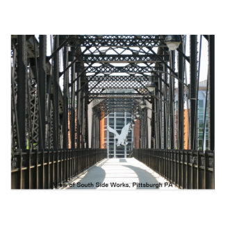 Bridge to the South Side Works, Pittsburgh PA Postcard