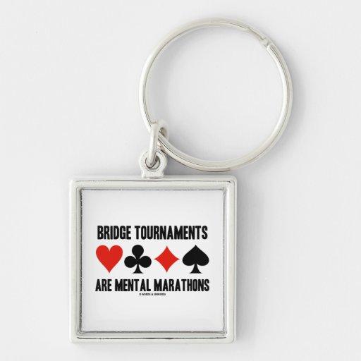 Bridge Tournaments Are Mental Marathons Key Chain