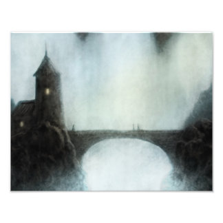 bridgefalls meeting fantasy landscape photo print