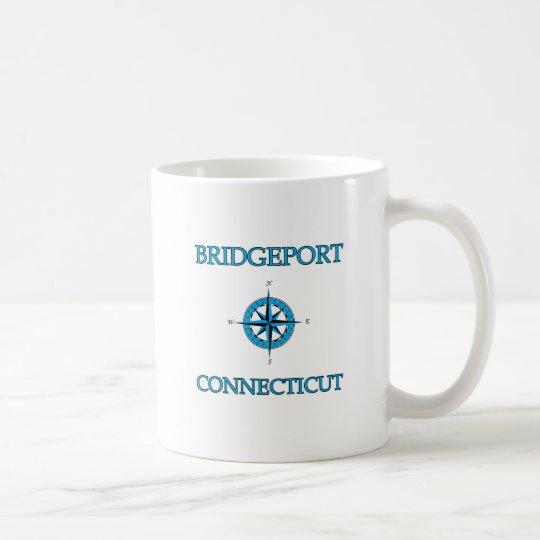 Bridgeport Connecticut Nautical Compass Rose Coffee Mug