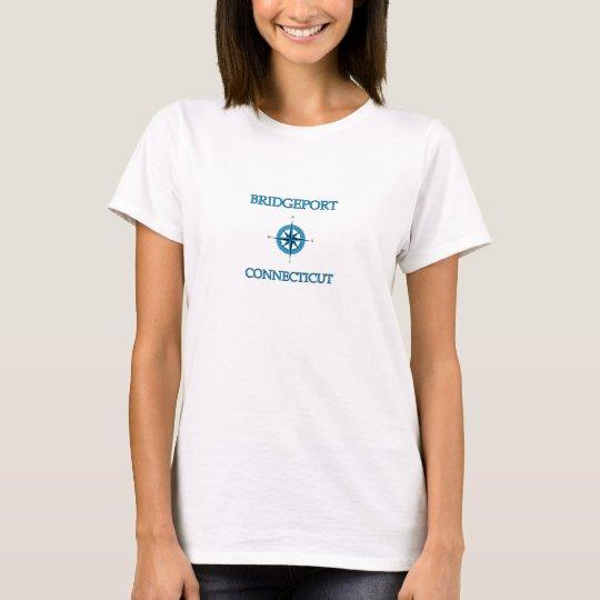 Bridgeport Connecticut Nautical Compass Rose T-Shirt